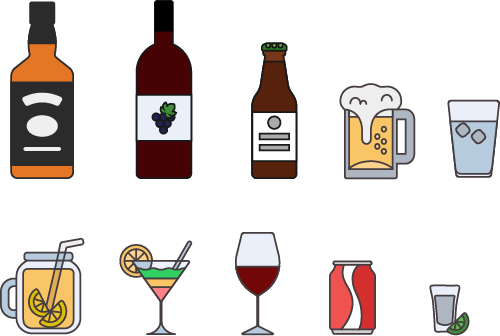 free drinks icon set