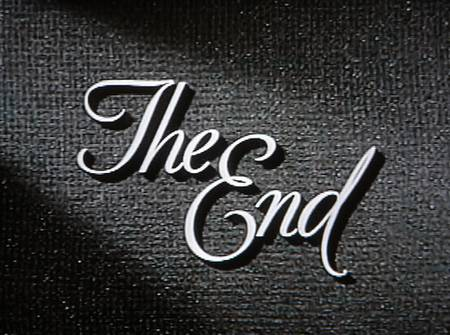 typography for the end of movies