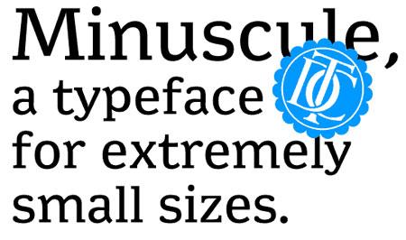 minuscule typeface