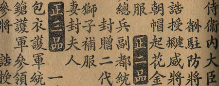 Ancient chinese typography