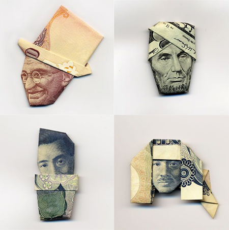 Moneygami, fun with origami and money