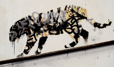 leopard by banksy