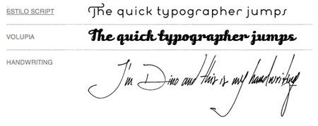 typographer\'s handwriting
