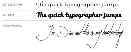 typographer\'s handwriting