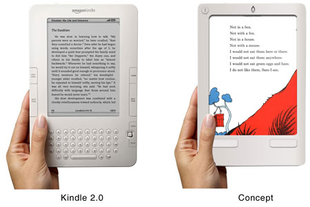 Amazon Kindle redesign concept
