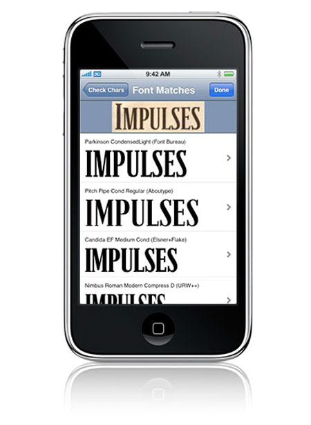 what the font iphone app