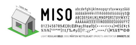 miso 30 high quality free fonts for great designs