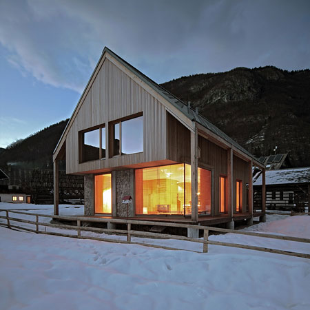 Wonderful alpine hut by slovenian architecture studio Ofis Arhitekti.