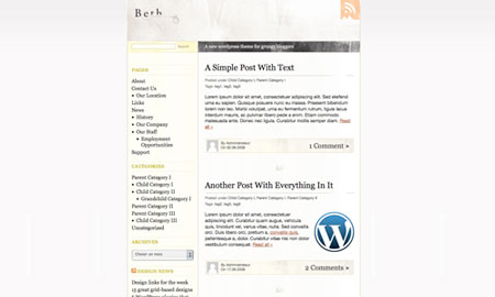 Free WordPress theme: Beth