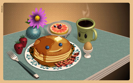 breakfast 50 cool free desktop wallpapers