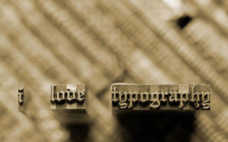 i love typography engraved