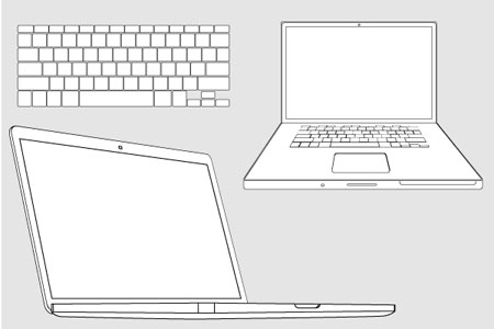 macbook pro vector