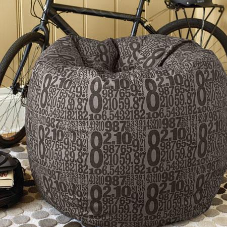 typography beanbag