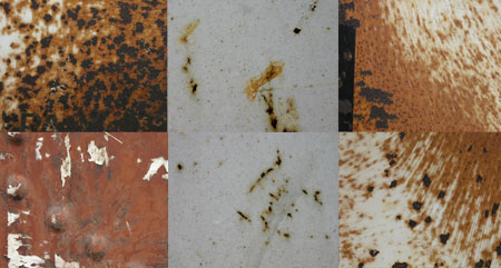 9 free rusty Photoshop textures