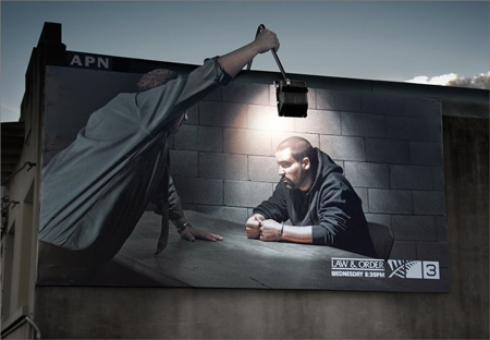 law order billboard
