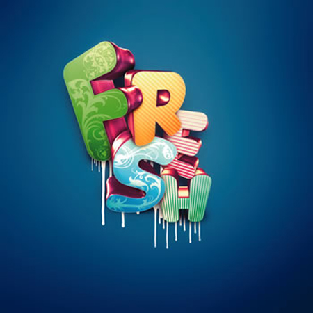3d text effect photoshop