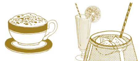 retro drinks photoshop brushes