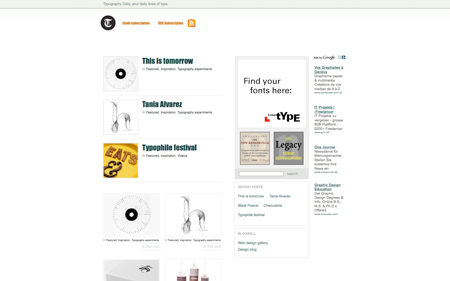 New website: Typography Daily