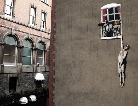 banksy window