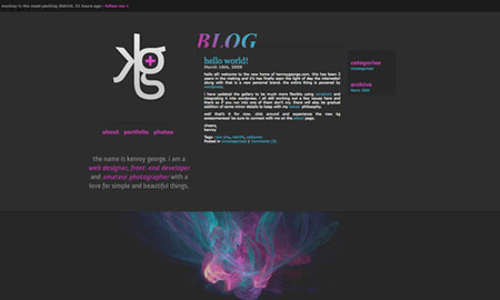 20 great web designs with a dark background