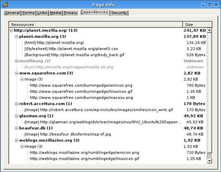 view dependencies