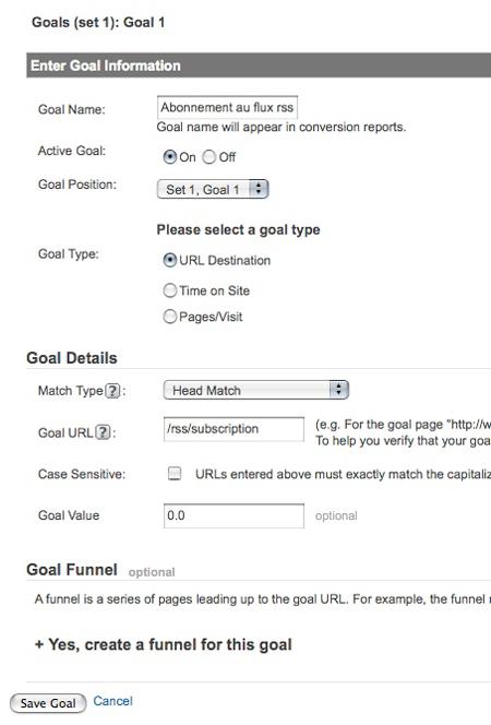 analytics goal