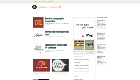 typography daily screenshot