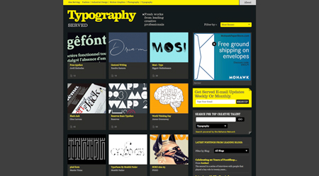 typography served screenshot