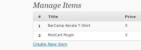 wordpress mini cart
