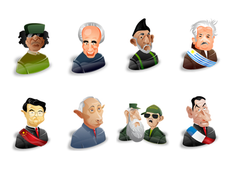 Free political characters icon set, part 2