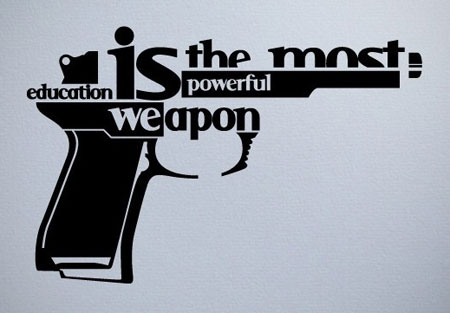 The typographic gun - Designer Daily: graphic and web design blog