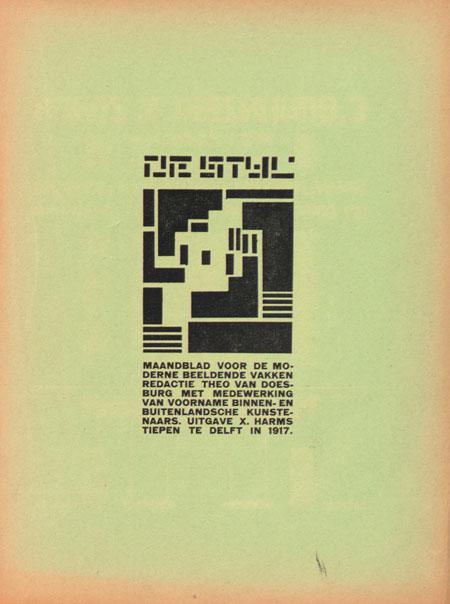 De Stijl magazine by Theo van Doesburg, 1917