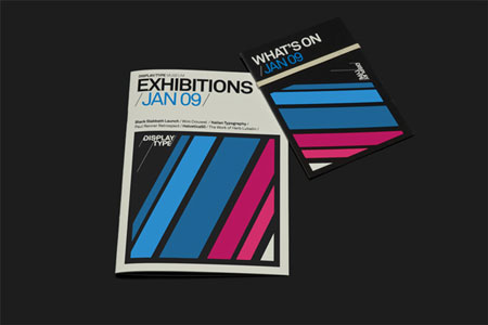 Brochure for exhibitions