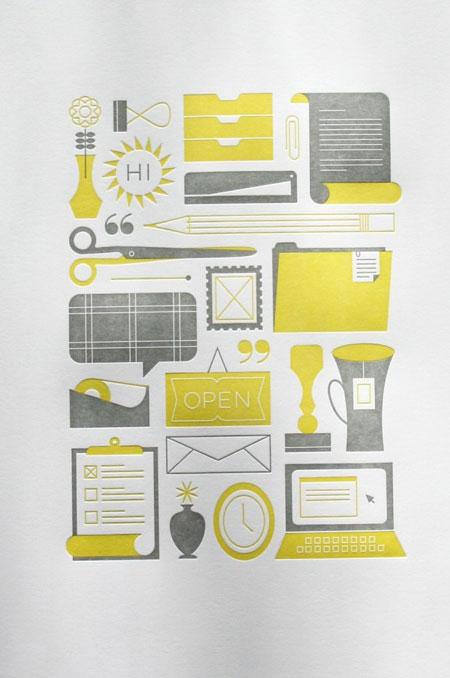 Katie Kirk letterpress print