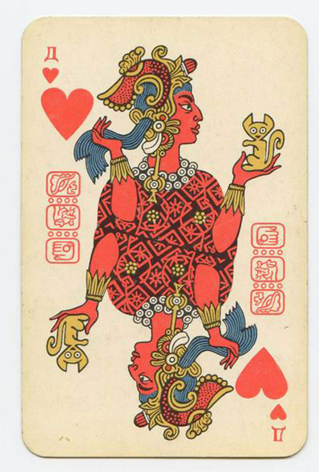 The Soviet Mayan playing card