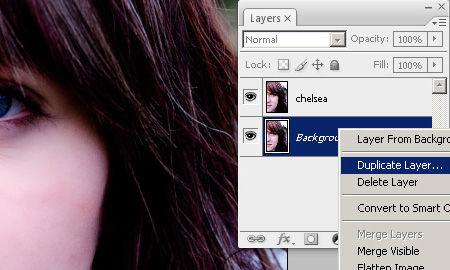 Step 1 - Retouching a photo