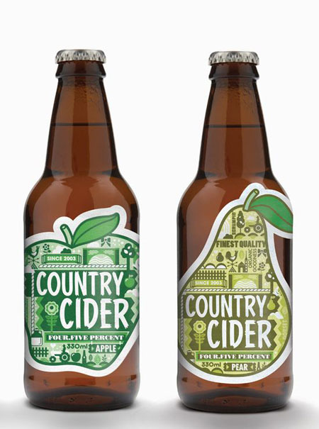 Country cider packaging