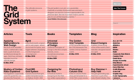 The Use Of Grids In Website Design