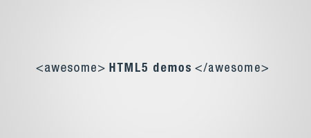 5 awesome HTML5 demos