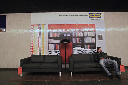 Cool IKEA contextual ads in the subway