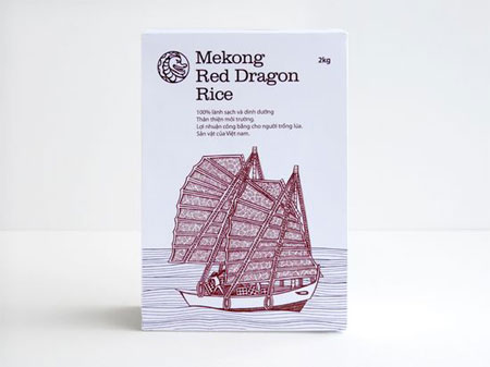 Mekong rice packaging