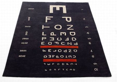 Sightlines typographic carpet