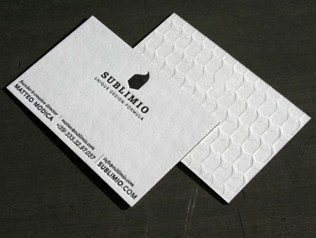 Sublimio business cards