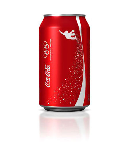 Special line of Coca Cola cans for the 2010 Winter Olympics