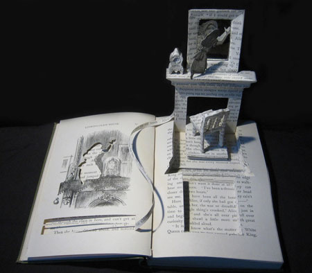 Book-cut sculptures by Su Blackwell