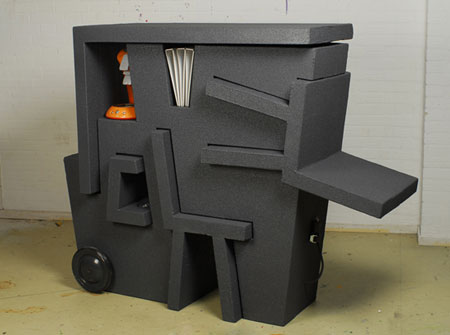 kruikantoor, a portable office made from EPS foam