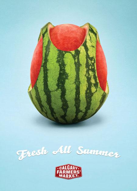 Calgary Farmer's Market advertising