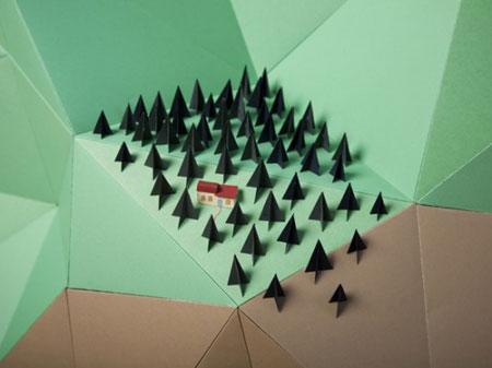 Paper installations by Hattie Newman
