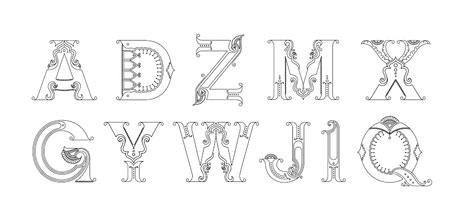Kalakari, ornamental alphabet