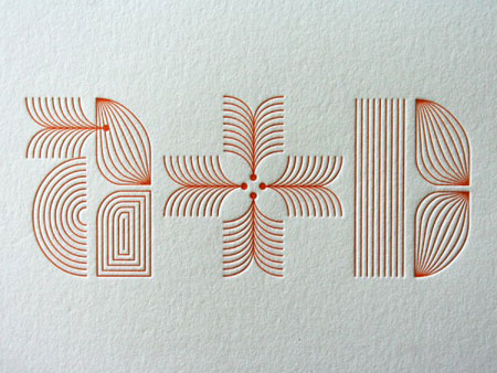 Modern Graphic Type Wedding